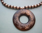 SALE...Wood 'n Pearl Necklace