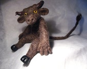 SALE: Wee Beastie - Farley the Minotaur - Needle Felted Pocket Monster