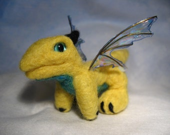 SALE: Needle felted baby dragon - Soleil