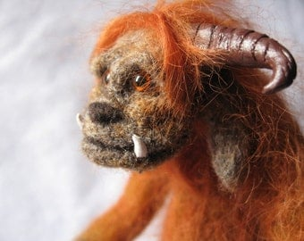CUSTOM - Needle felted sculpture- Ludo from Labyrinth