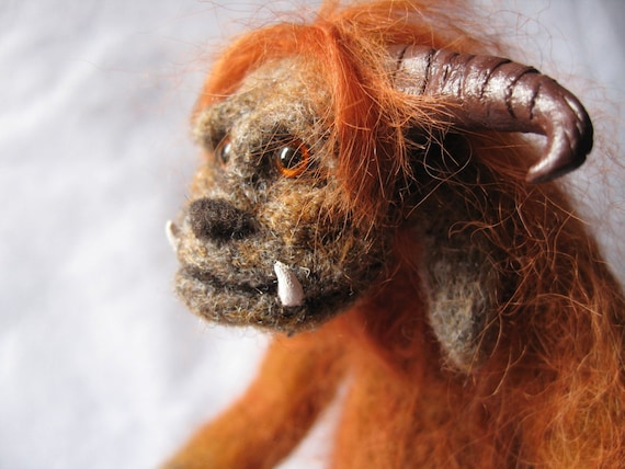 SALE - Needle felted sculpture- Ludo from Labyrinth