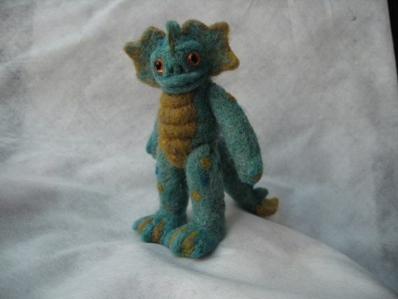 Wee Beastie - Seymour the Sea Monster - Needle Felted Pocket Monster