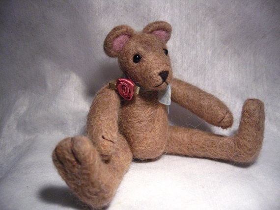 Needle felted Teddy Bear - Rosie