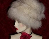 Vintage  Fox hat   SALE 145.00