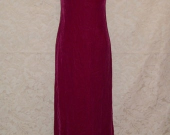Vintage 60s Pink Velvet and Satin Bow  Gown Dress
