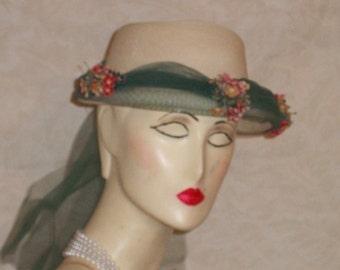 Vintage 50s  Modern Miss Hat  REDUCED  45.00