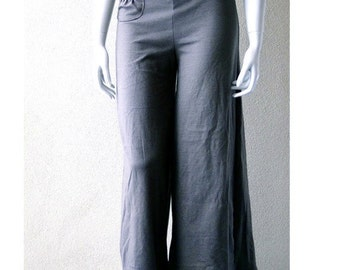 Wide leg pants with pocket, custom made PANTS, organic women's clothES