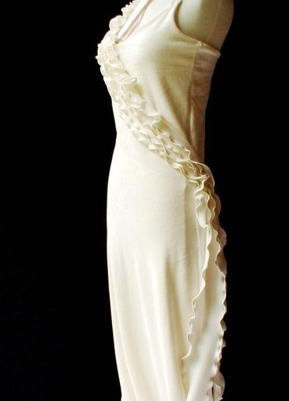 Organic bamboo velour and silk Wedding Gown