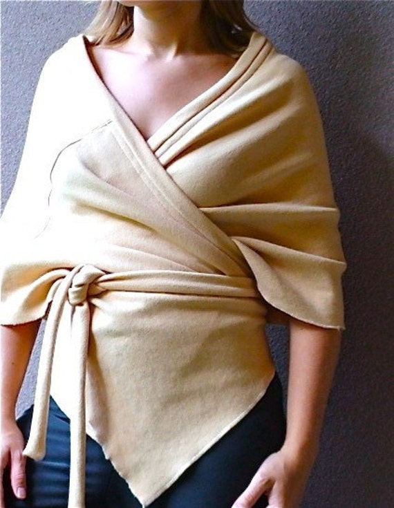 Sample sale - Seaside organic wool wrap in Soft Apricot - ready to ship