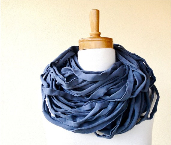 SALE Organic cotton Linguine scarf textured chunky  cowl neck warmer