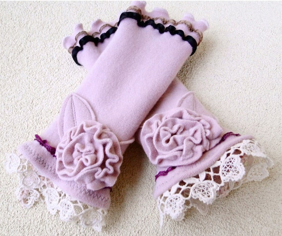 SALE Organic wool arm warmers holiday gift idea