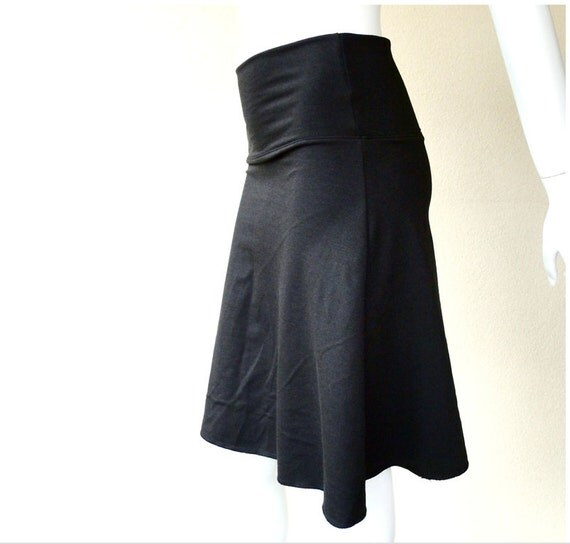 SALE Basic aline skirt, short skirt, black skirt, organic cotton skirt, more colors, handmade organic clothing