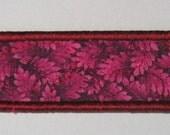 Deep pink leaves bookmark