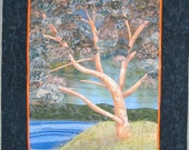 Estuarine eucalypt art quilt