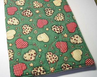 Green journal cover (with red hearts)