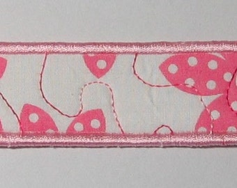 Pretty in pink bookmark - long - soft pink trim