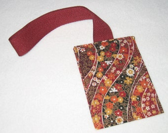 Fall Flowers luggage tag