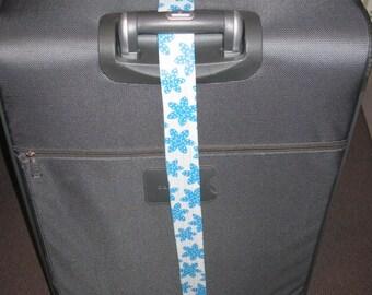 Blue Flower luggage wrap