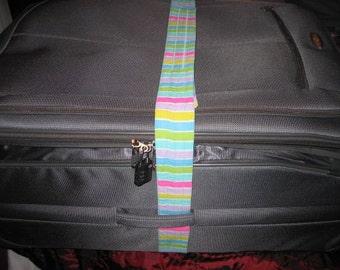 Striped luggage wrap