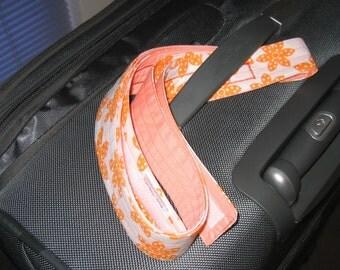 Awesome Orange Flower luggage wrap - white background