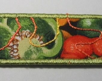 Pepper bookmark -- green trim