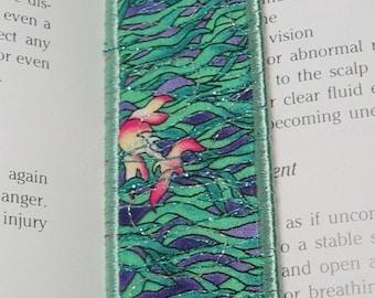 Fish bookmark with sage green trim
