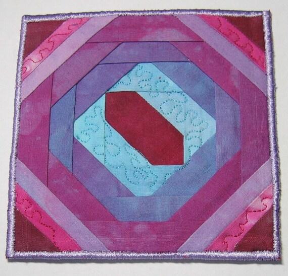 Purple fabric coaster
