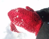 On the Side Mittens- garnet- women's small- READY TO SHIP