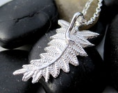Sterling Fern Leaf Necklace - Leaf Pendant