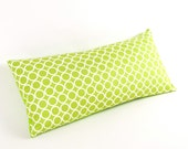 """Green and White Circles Pillow 8"""" x 17"""""""