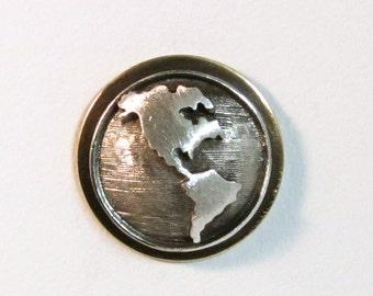 Hemisphere Steampunk tie tac, tac pin - LAST ONE