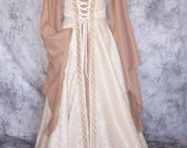 Renaissance Medieval Fairy Tale Gown Overdress and Chemise (111)
