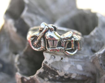 Sterling Silver Motorcycle Ring