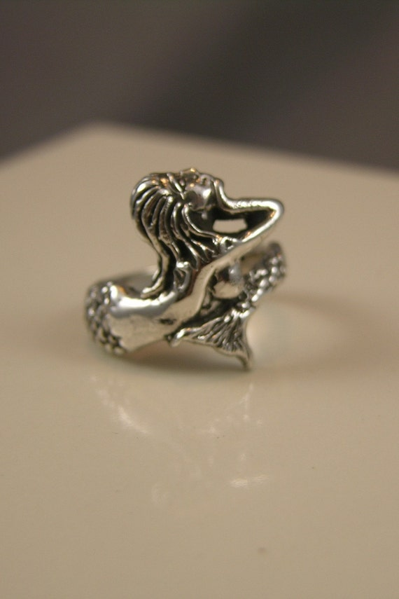 Sterling Silver Mermaid Ring Size 7