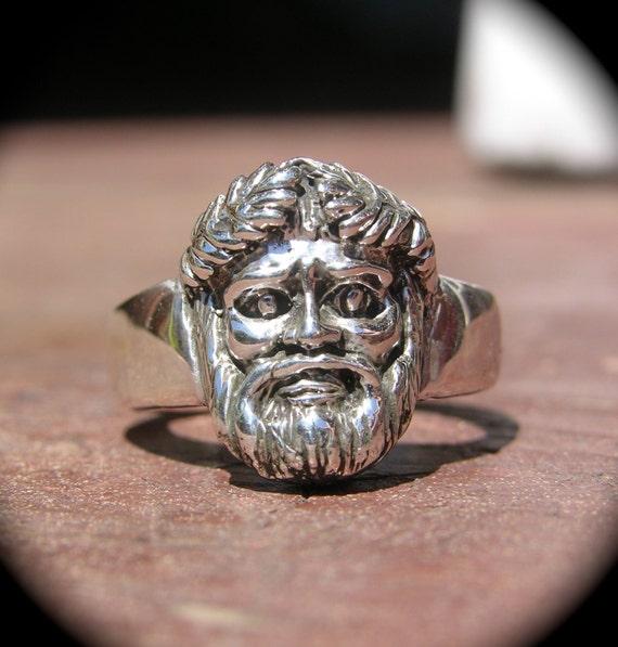 Greek god Bacchus Ring Size 10