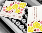 Calling Cards - Blossoming Garden - Set of 50
