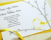 Sample Wedding Invitation Set -- Goldfinch and Pussywillow