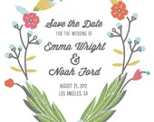 Printable Save the Date - Fabric Floral