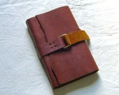 Handmade leather travel journal medieval style
