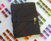 Chocolate leather pocket journal