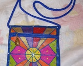 Small shoulder bag metallic color blocked