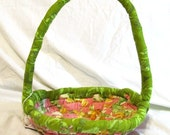 Easter Basket pink and green shipping included