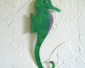 Reserved for Jenn - Tropical Seahorse Metal Wall Sculpture