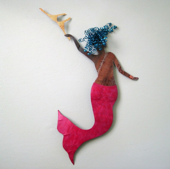 Sale Vera Mermaid Metal Wall Sculpture Signed Original