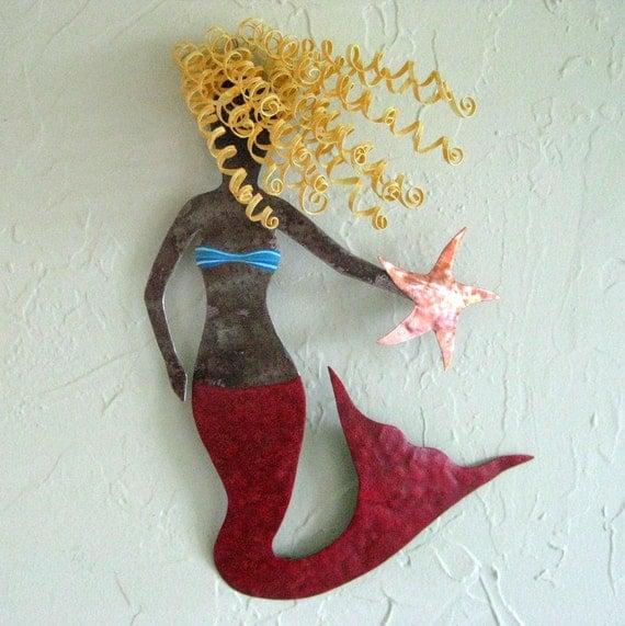 Mystical Mermaid Metal Wall Sculpture By Frivoloustendencies