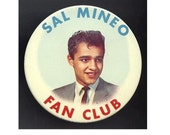 Orig. Vintage 1950s Teen Idol SAL MINEO Fan Club Pin