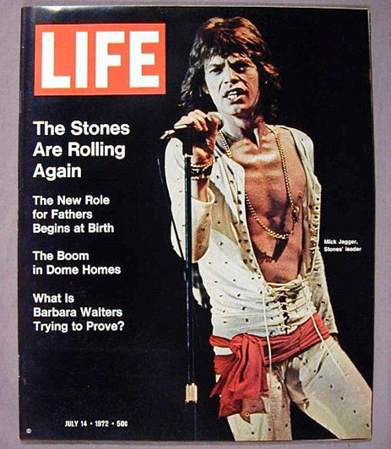 1972 MICK JAGGER Rolling Stones LIFE Magazine