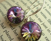 Swarovski Crystal and Sterling Silver Earrings - Lavande