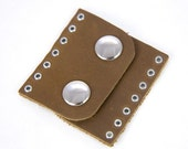 Leather Supplies, Leather Snap Clasp Die-Cut from Supple Chrome Tanned Leather Tafuri Tough