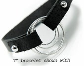 Leather Bracelet Strap with Loop Ends Focal Not included